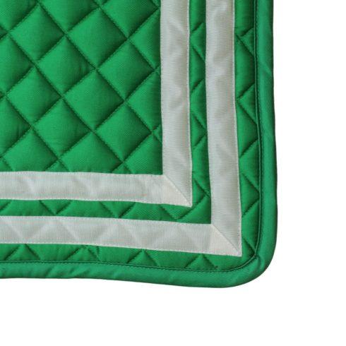 Schabracke Bandera in andalusischen Farben Grün Weiß Detail Picadera