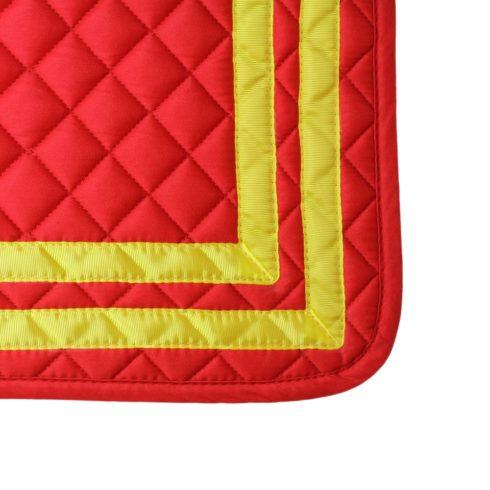 Schabracke Bandera in spanischen Farben Rot Gelb Detail Picadera