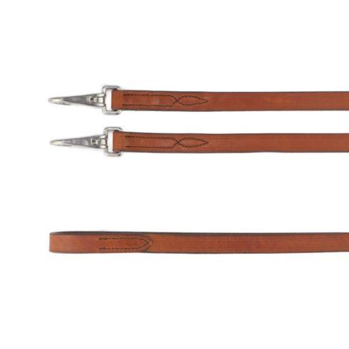 Leder Zügel Glatt mit Snaps Braun Silber Picadera