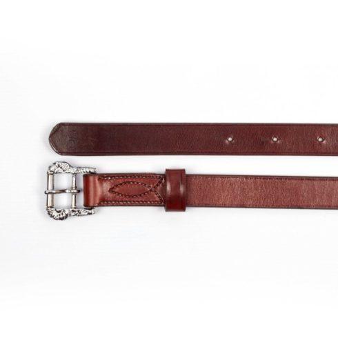 Barocke Steigbügelriemen aus braunem Leder mit silbernen Cortesia-Schnallen bei Picadera