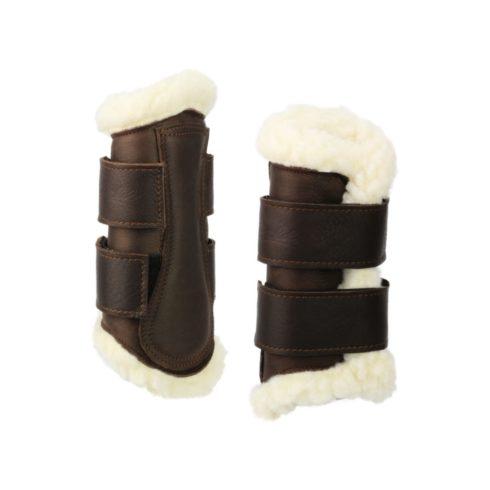 Ledergamaschen für Working Equitation und Dressur Braun Vorne Picadera