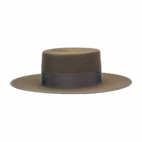 Spanish Felt Hat for Riding in Brown at Picadera