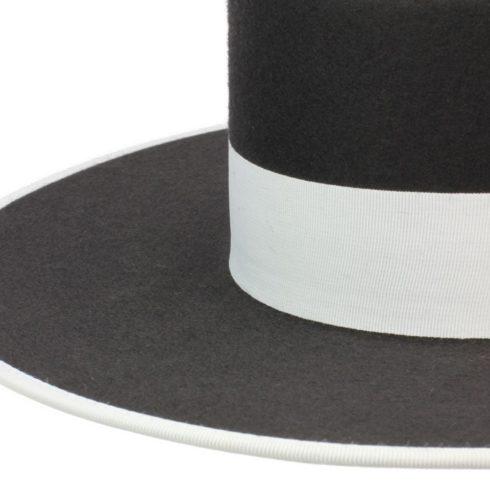 Spanischer Filzhut zum Reiten Dunkelgrau mit Hutband Picadera