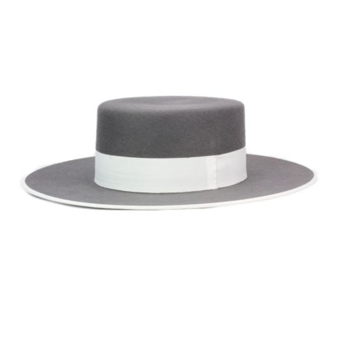 Spanish Felt Hat for Riding in Grey at Picadera