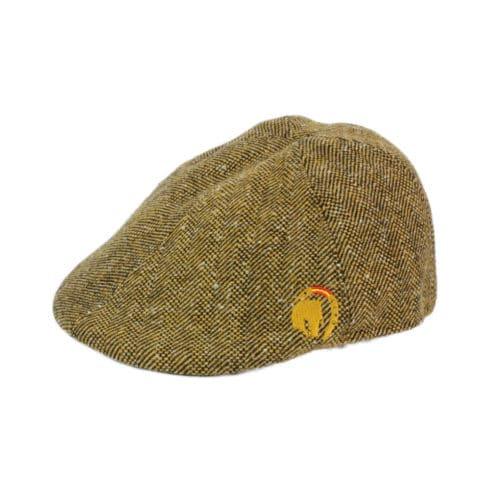 Flat cap Vaquera style with horse embroidery in brown at Picadera