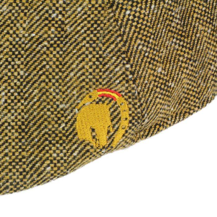 Flatcap Vaqueramütze mit Pferde Stickerei Braun bei Picadera Detail