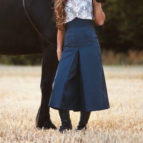 Hosen Reitrock in Blau gestreift von Picadera