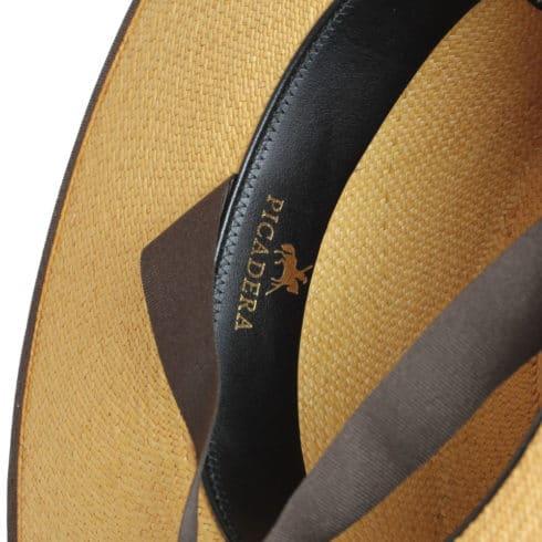 Schicker Strohhut Cordobes zum Reiten mit Picadera Logo