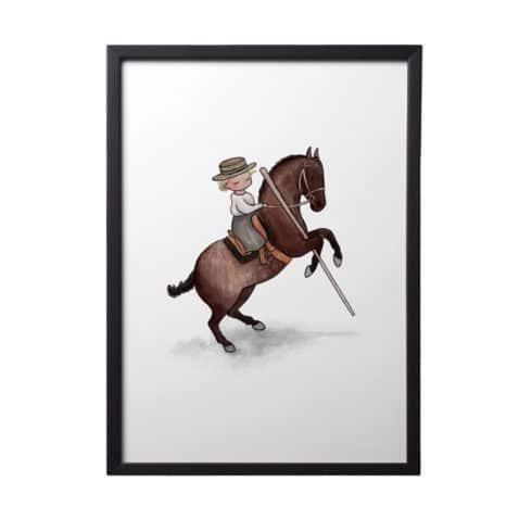 Print mit Reiterin mit Garrocha von Picadera