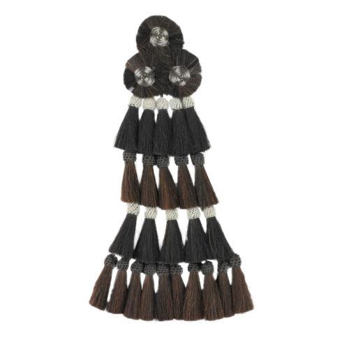 Großer Mosquero mit 25 Borlas in Schwarz Braun von Picadera