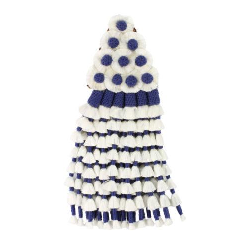Spanischer Mosquero aus Seide in Blau Weiß von Picadera