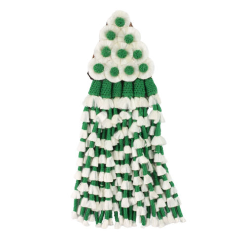 Spanischer Mosquero aus Seide in Grün Weiß von Picadera